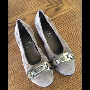 AGL Gray Suede Wedges